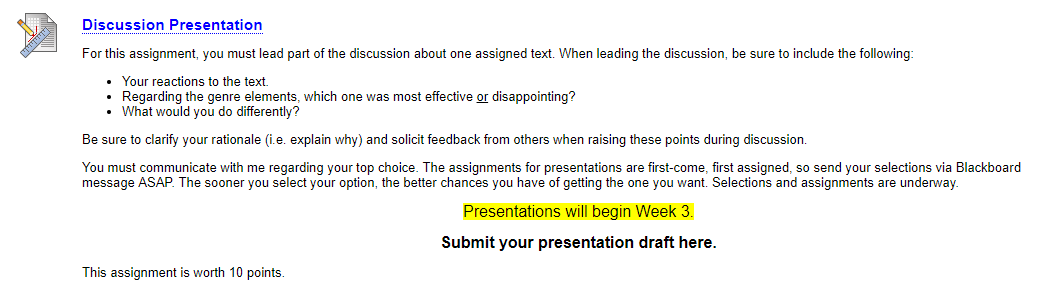 Example of prompt for peer discussion