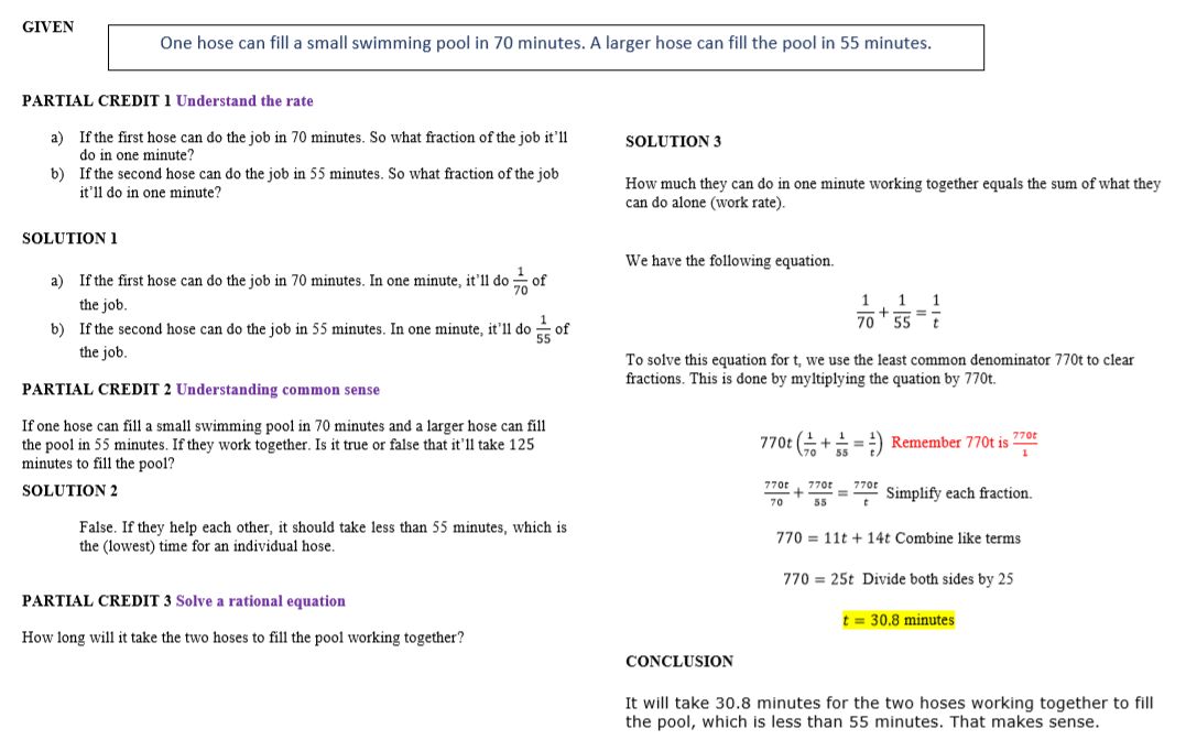 example of math problem