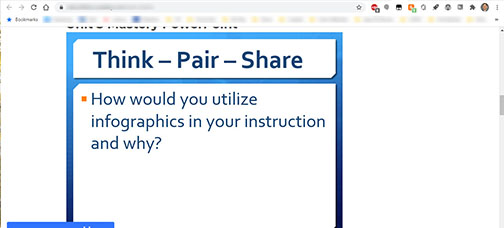 Activity Prompt: How would you utilize infographics in your instruction and why?
